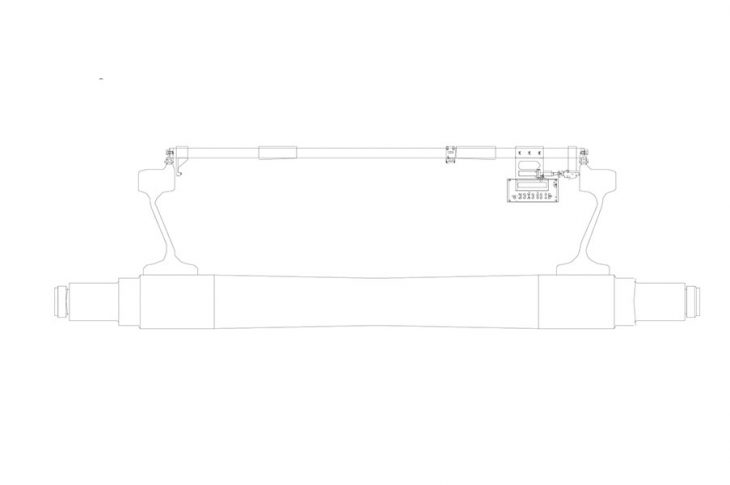 Прибор для измерения расстояния между внутренними гранями колес ПИРК-Р